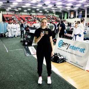 2019 - Kate is the 4 Nations Karate Champion