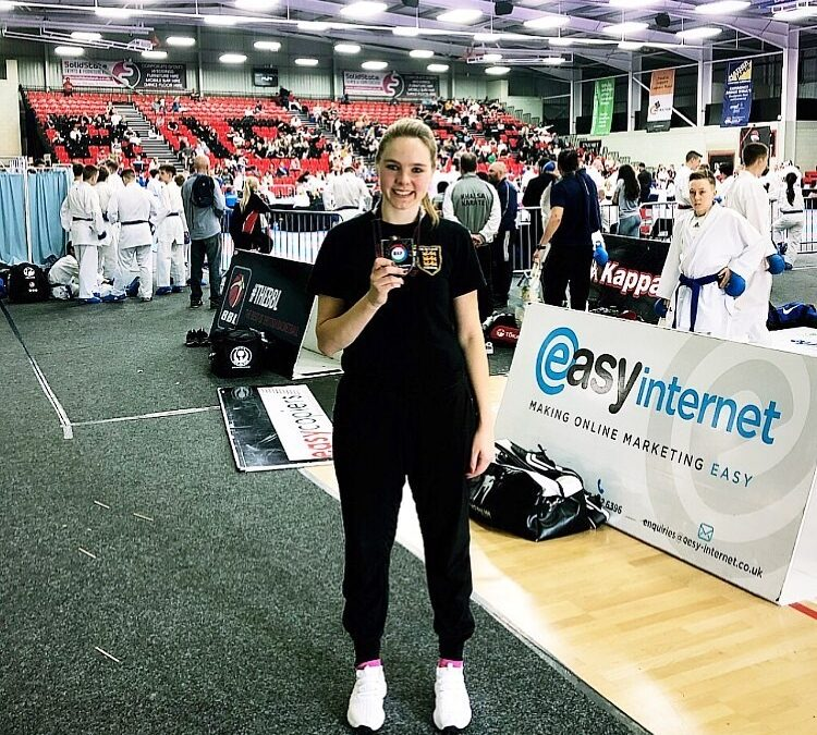 2019 – Kate is the 4 Nations Karate Champion